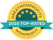 Great Nonprofits top rated 2020 badge